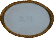17077 Large Oval Wicker Serving Tray