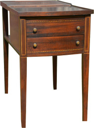SOLD Two Drawer Mahogany End Bedside Stand