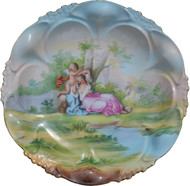 SOLD Hand Painted Austrian Victorian Plate Signed