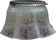 SOLD Early Gas Lamp Decorated Ruffle Shade
