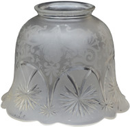 SOLD Set of 6 Antique Electric Etched and Bevel Cut Lamp Shades