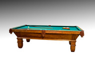 SOLD Victorian Oak Antique Pool Billiard Table
