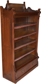 SOLD Eastlake Walnut Bookcase with Drawers