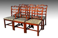 SOLD Set of Six Ribbon Back Dining Chairs