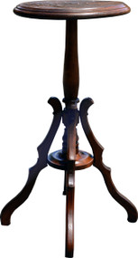 SOLD Victorian Burl Walnut Candle Stand