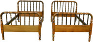 SOLD Two Twin Size Spool Country Beds