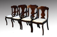 SOLD Set of Four Mahogany Empire Dining Chairs