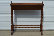 SOLD Oak Barley Twist Unusual Bookrack