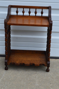 SOLD Eastlake Oak Unusual Bookcase