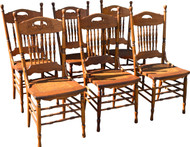 SOLD Set of Six Press Back Dining Chairs