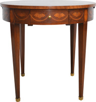 SOLD Inlaid Occasional Serving Table Mahogany by Baker
