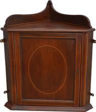 SOLD Mahogany Inlaid Corner Medicine Cabinet