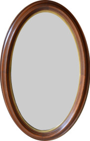 SOLD Victorian Oval Deep Dish Walnut Wall Mirror