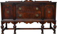 SOLD Burl Walnut Buffet – 1930s