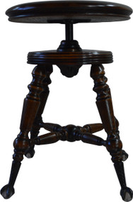 SOLD Oak Victorian Ball and Claw Piano Stool