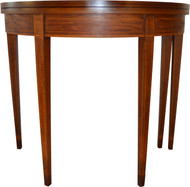 SOLD Mahogany Inlaid Hepplewhite Game Table