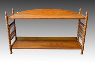 SOLD Oak Hanging Dainty Spindle Shelf