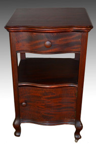 SOLD Mahogany Antique Serpentine Door Nightstand