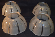 17262 Set of 4 Frosted Victorian Gas Shades