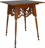 SOLD Dainty and Delicate Carved Oak Parlor Stand
