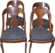 SOLD Set of 4 Flame Mahogany Period Empire Chairs