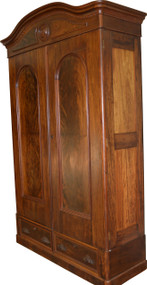 SOLD Victorian Mahogany and Flame Mahogany Armoire Wardrobe – Civil War Era
