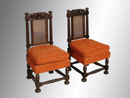 SOLD Pair of Boudoir Carved Chairs