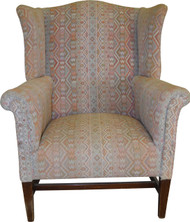 SOLD Chippendale Wing Back Arm Chair