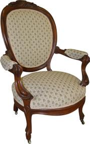 SOLD Victorian Grape Carved Arm Chair Civil War Era