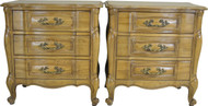 SOLD Pair of French Provincial Three Drawer Night Stands by Rapids