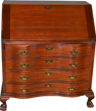 SOLD Mahogany Chippendale Ball and Claw Slant Top Desk by Maddox