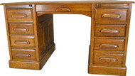 SOLD Oak Lawyer's Banker's Raised Panel Desk