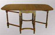 SOLD  Antique Drop-leaf Gate Leg Rope Twist Table