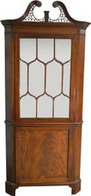 17314 Mahogany Custom Corner China Cabinet