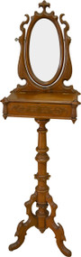 17324 Victorian Walnut Carved Gentleman's Shaving Stand