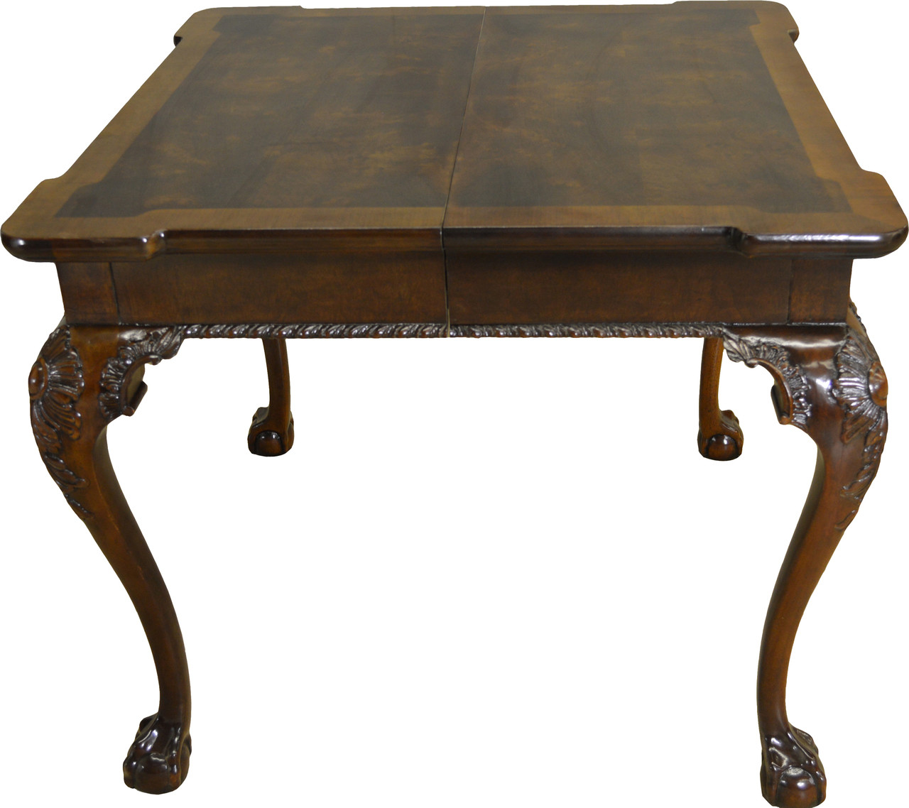 Sold Chippendale Banded Ball And Claw Small Dining Table By Henredon Maine Antique Furniture