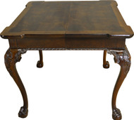 SOLD Chippendale Banded Ball and Claw Small Dining Table by Henredon