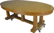 SOLD Tiger Sawn Oak Oval Conference Table – 8 FEET LONG!