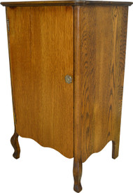 SOLD Oak Tiger Sawn Record Cabinet
