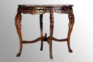 SOLD French Victorian Carved Inlaid Parlor Stand End Table