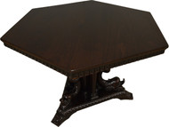 17348 Carved Dolphin Headed Six Sided Dining Table – Fantastic