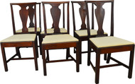 SOLD Set of 6 Mahogany Formal Dining Chairs