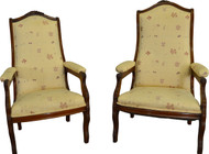 17384 Pair of Victorian Grape Carved Lady and Gent's Chairs