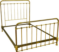 SOLD Antique Full Size Brass Bed