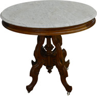 SOLD Victorian Oval Marble Top Stand