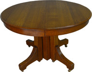 SOLD Mission Round Oak Dining Table