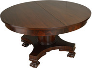 SOLD Round Mahogany Ball and Claw Dining Table Banquet - 10 Feet Long