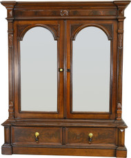 SOLD Victorian Walnut Step Back Two Door Bookcase – Civil War