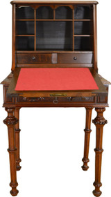 SOLD Victorian Dainty Ladies Carved Slant Top Desk