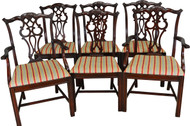 SOLD Set of 6 Chippendale Formal Carved Dining Chairs